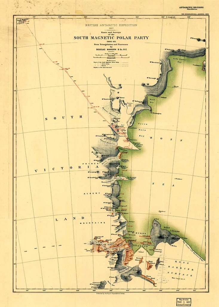 old maps on Antarctica