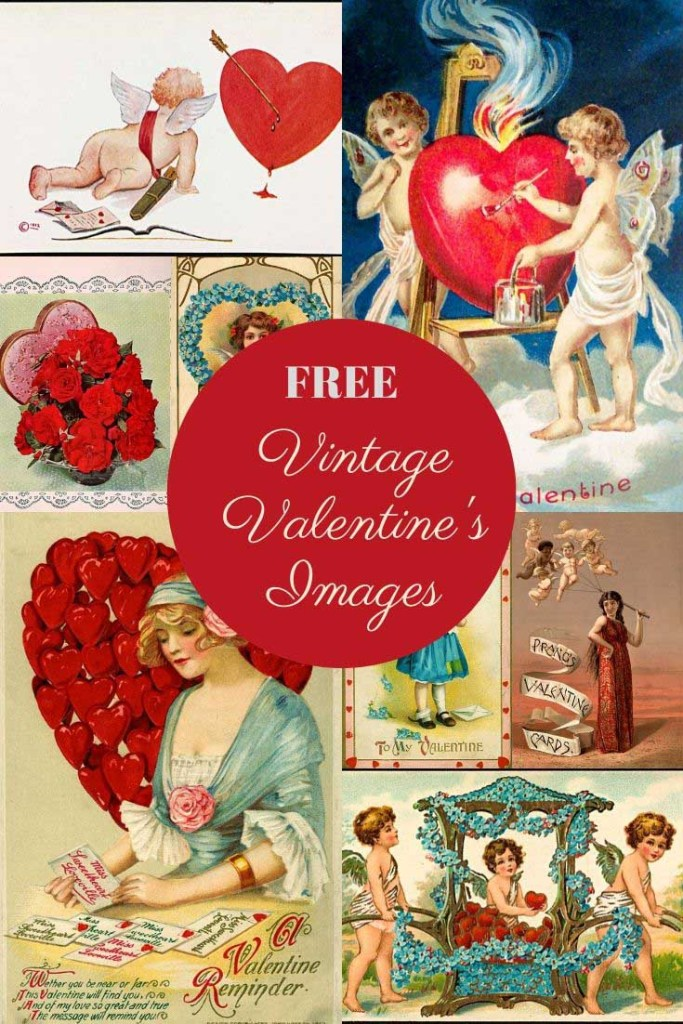 Vintage Happy Valentine's day images free