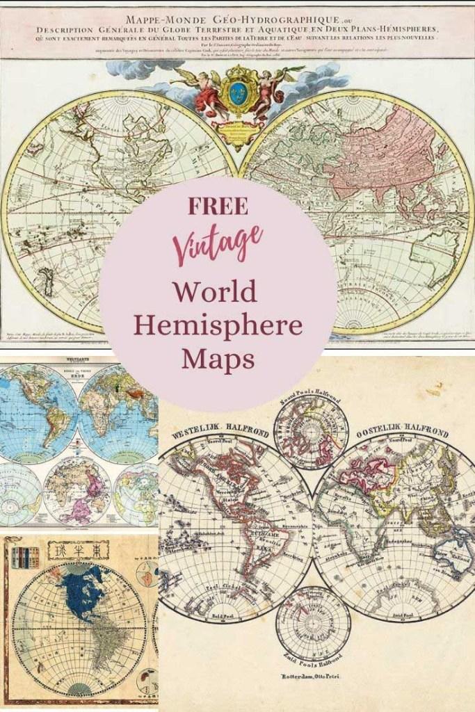world map hemispheres