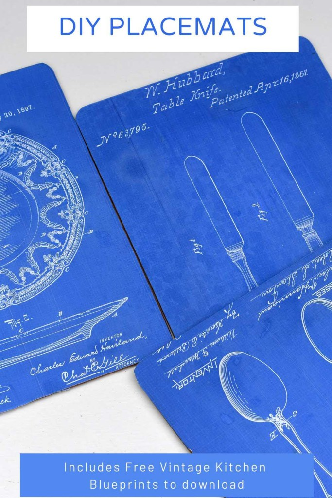 DIY placemats using kitchen blueprints