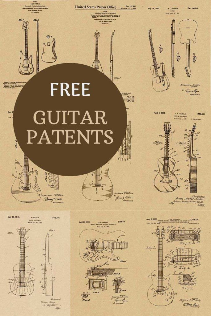 Kraft paper guitar prints to download