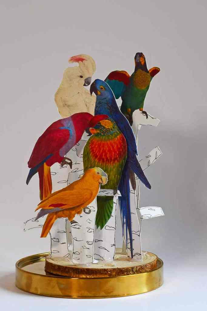 DIY Parrot paper craft