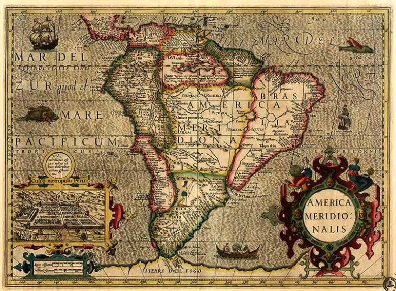 1606 Map of South America