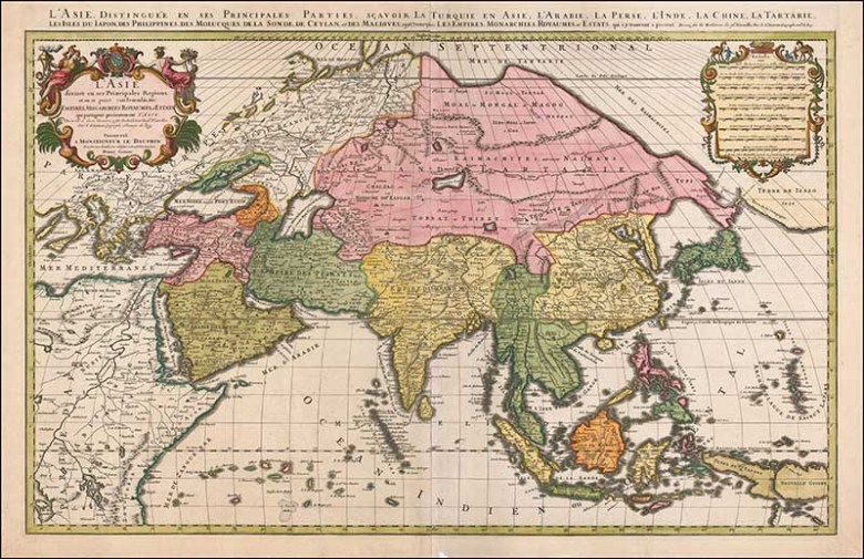 1692 Map of the Asian Continent