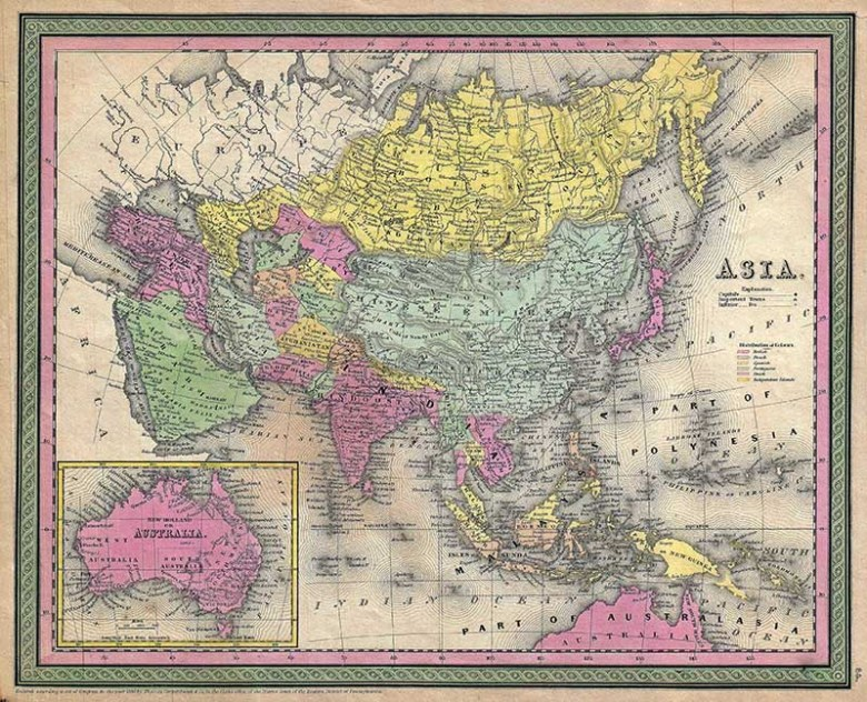 1853_Mitchell_Map_of_Asia
