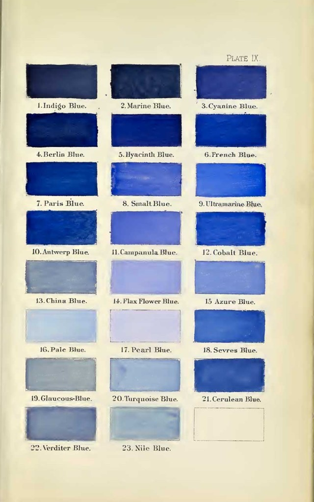 A nomenclature of colors blues