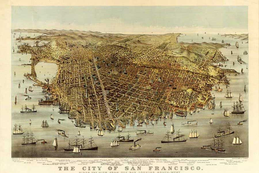 Free Old Maps Of San Francisco Bay Area Picture Box Blue At any given node, people are coming and going along multiple paths. picture box blue