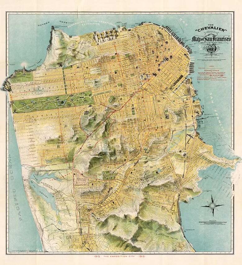 1915 Map of San Francisco