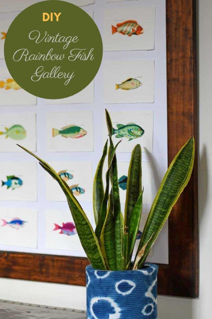 Free printable rainbow fish watercolor