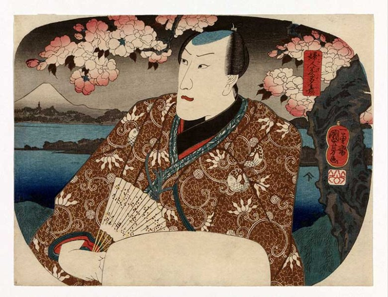 Kabuki actor Japanese woodcut print