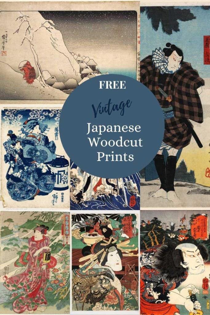 Free vintage Utagawa Kuniyoshi Japanese woodblock prints