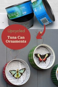 upcycled tin can ornament
