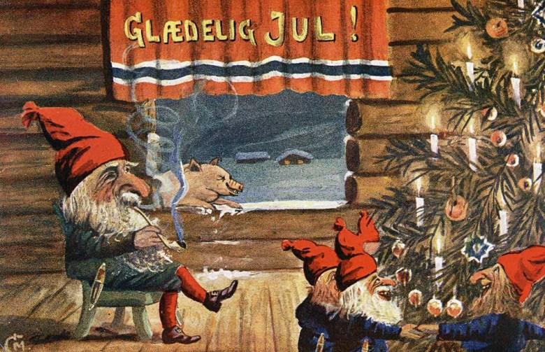 gnomes dancing around the tree