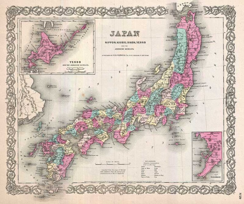 Coltons old map of Japan