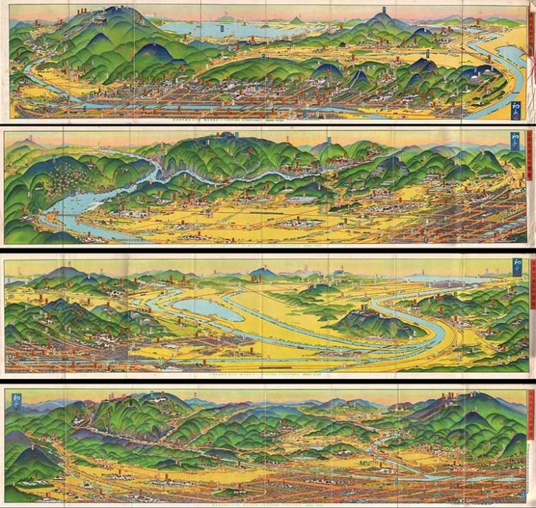 Kyoto rail map 1928