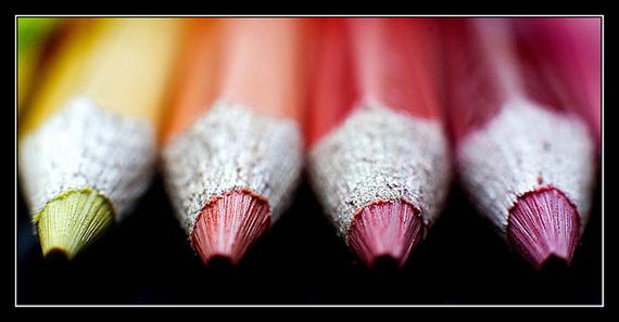 macro color pencils