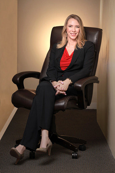 business woman portrait in office chair