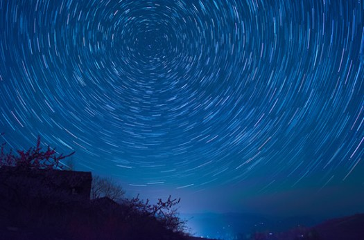 timelapse star trail