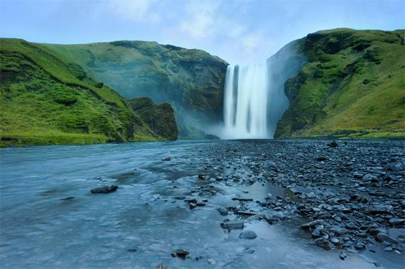 waterfall overcast