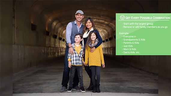 how to shoot fun family portraits