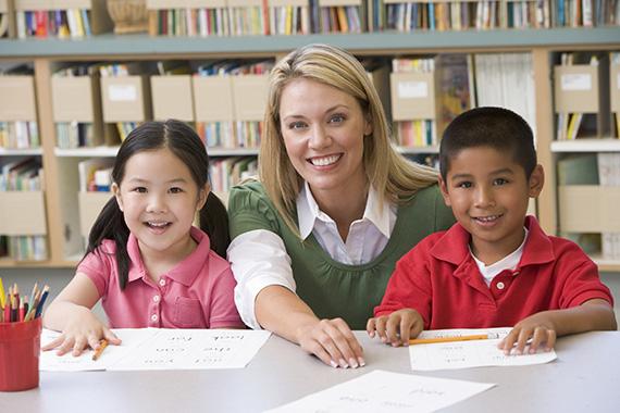 school pictures with teacher
