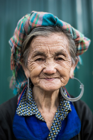 Hmong woman portrait in Vietnam