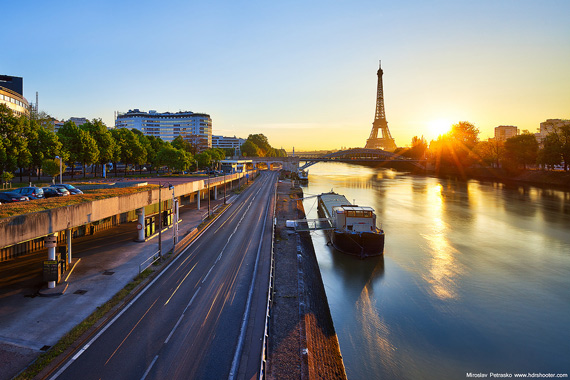 Paris morning light