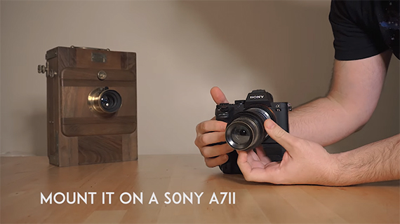 Sony A7II with large format lens