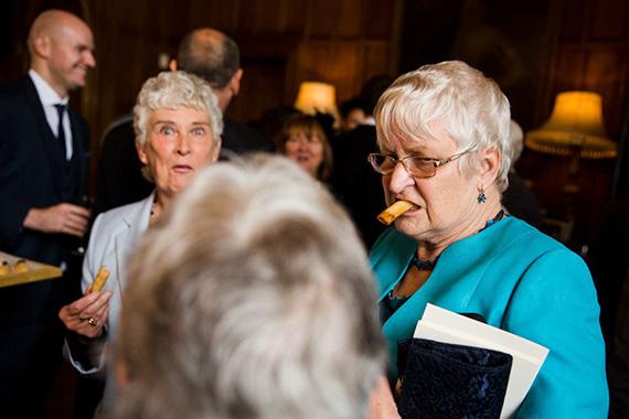 capturing a split second at a wedding