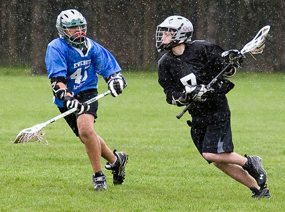 rain lacrosse photography