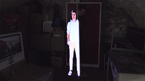 Pixelstick for holopainting