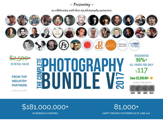 5 day photography deal