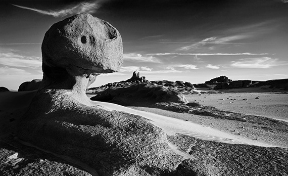 red sea hills black and white