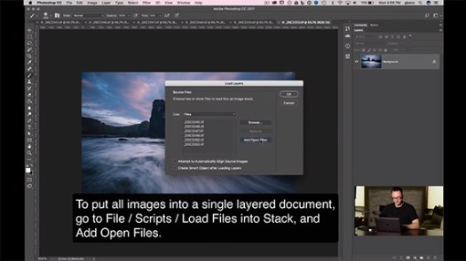 how to blend exposures in Photoshop