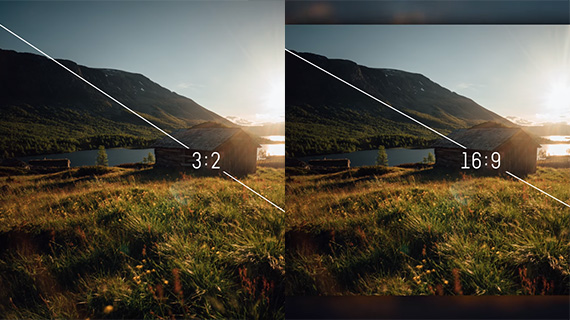 aspect ratio motion time-lapse