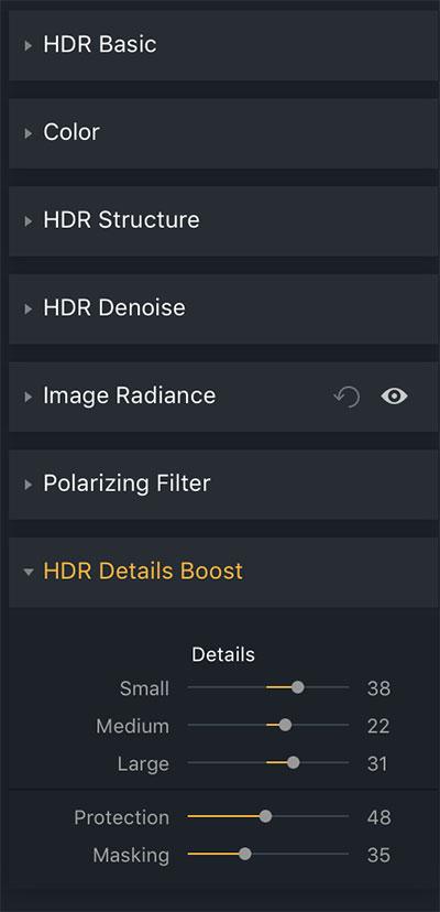 boost details aurora hdr