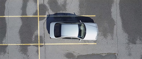 car photography with a drone
