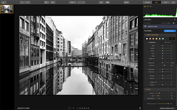fine tuning black and white conversion