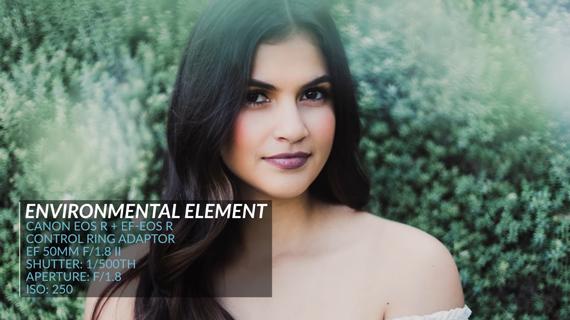 portrait photography hack using environmental elements