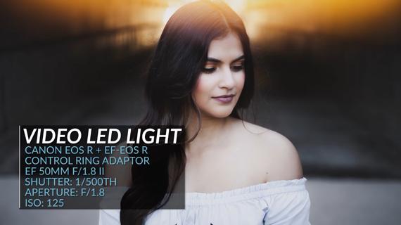 portrait photography hack using LED light