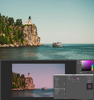 how to color wash lighthouse photos