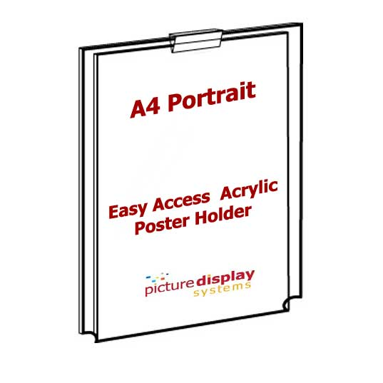 Wall Mounted Cable Poster Display Kit 3 x A4 Portrait Pockets
