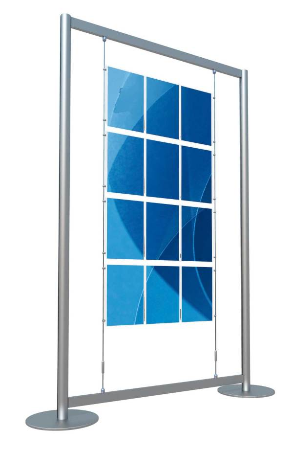Freestanding Cable Poster Display Unit 12 x A4 Portrait