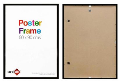 60x90cms black wood ready made poster