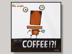 Coffee by Tony Cribb Box Framed Artcard