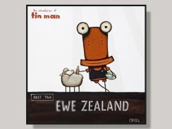 EWE ZEALAND by Tony Cribb Box Framed Artcard