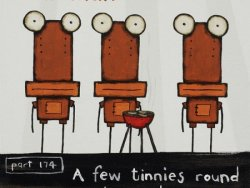 A Few Tinnies Round The Barbie by Tony Cribb