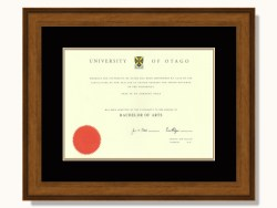 Otago University Degree Frame