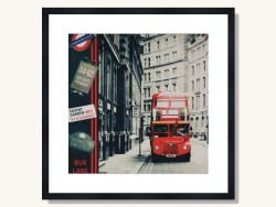 London Underground Red Bus Framed Print