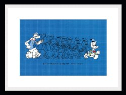 Popeye to Donald In One Step Framed Print by Dick Frizzell